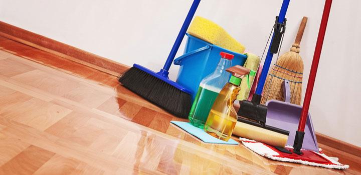 Städartiklar sopborste rengöringsmedel