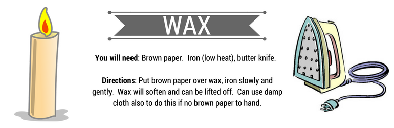 How to Remove Wax Stains